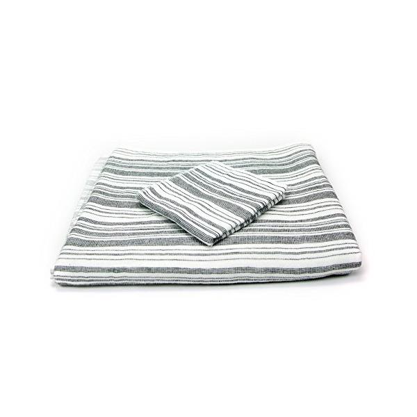 Morihata - Yoshii Shirt Stripe Compact Bath Towel