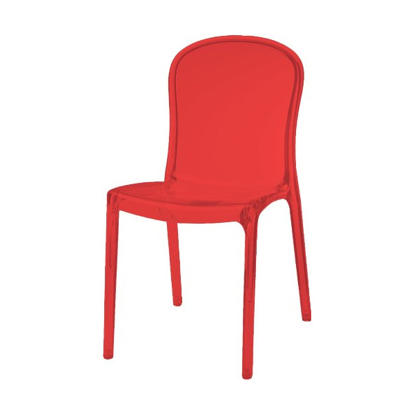Thalya Style Chair Transparent Red