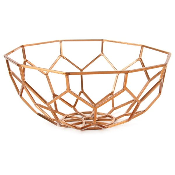 Hallmark Home Decor Copper Metal Geometric Bowl