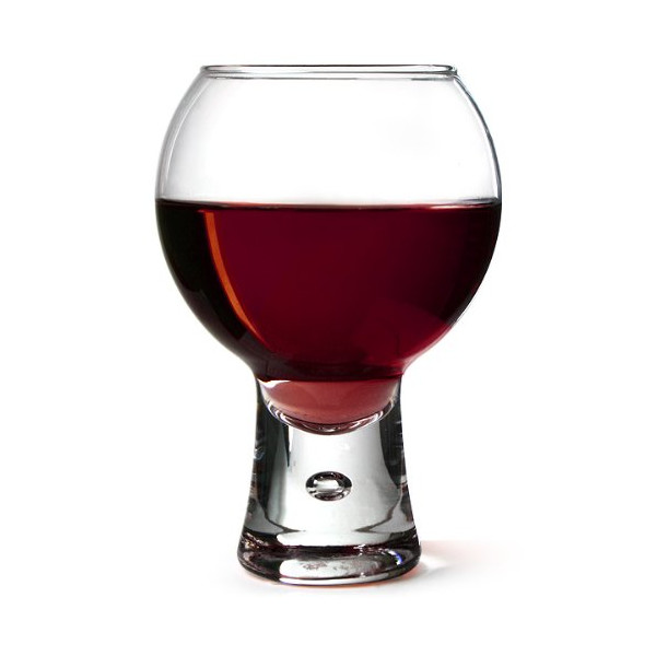Alternato Wine Glasses 11.6oz / 330ml - Pack of 6 | Red Wine Glasses, Short Stem Glasses, Bubble Base Glasses from Durobor