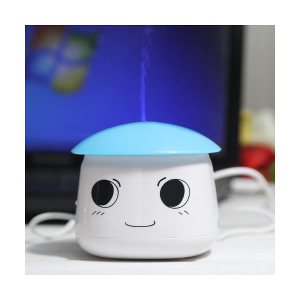 EiioX Cute Sauna Boy Portable Mini Home&Office Humidifier USB Powered (Light Blue)