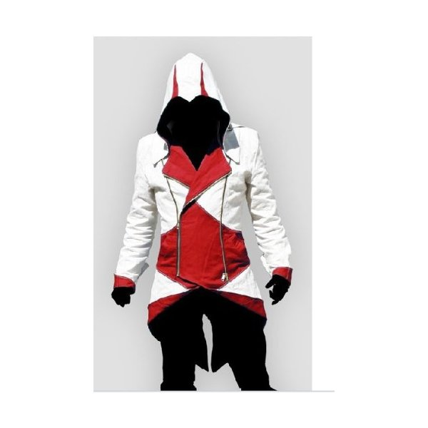 Ericasummit Assassin's Creed II Connor Kenway Coat Jacket Hoodie Cosplay Costume