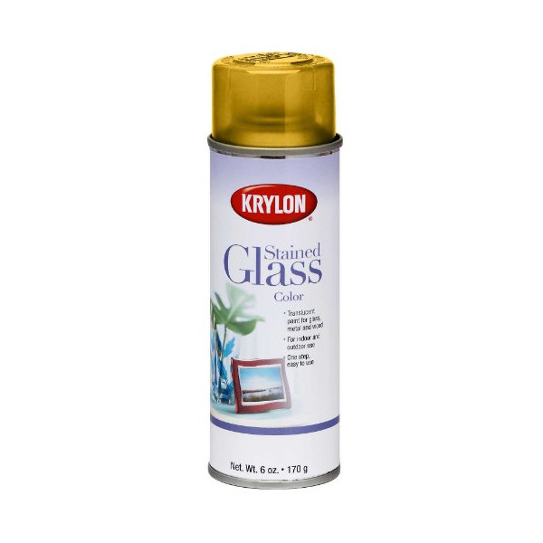 Krylon 9024 Stained Glass Color, Yellow (6 Pack)
