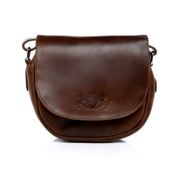 Scotch & Vain cross-body bag BRIGHTON - leather bag with shoulder strap leather tan-cognac - shoulder bag