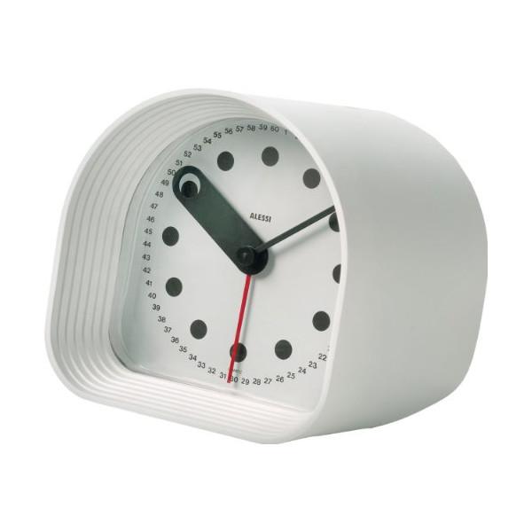 Alessi Optic Table Alarm clock, White