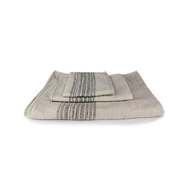 Kontex Organic Cotton Towels From Imabari, Japan - Bath Towel, Hand Towel & Washcloth, Beige/Brown (Face Towel)
