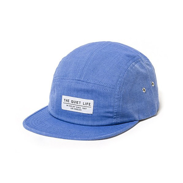 Quiet Life: Oxford 5 Panel Hat - Blue