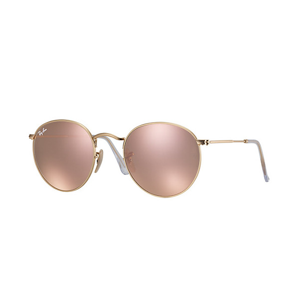 Ray-Ban Round Flash Lenses, Copper and Pink