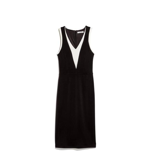 Mango Women's Contrast Detail Dress, Black, 6