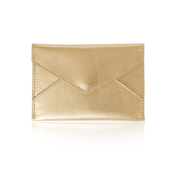 Russell + Hazel Business Card Holder, Gold