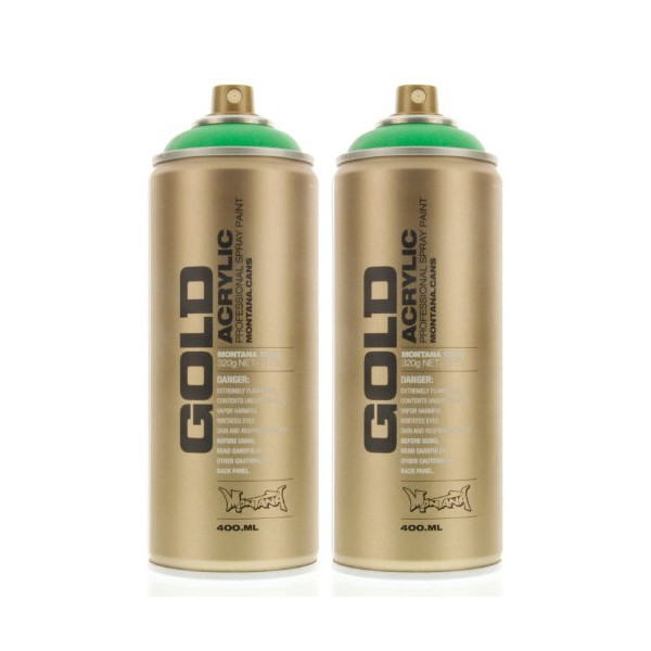 Montana GOLD Acrylic Spray Paint ACID GREEN Pack of 2 Cans