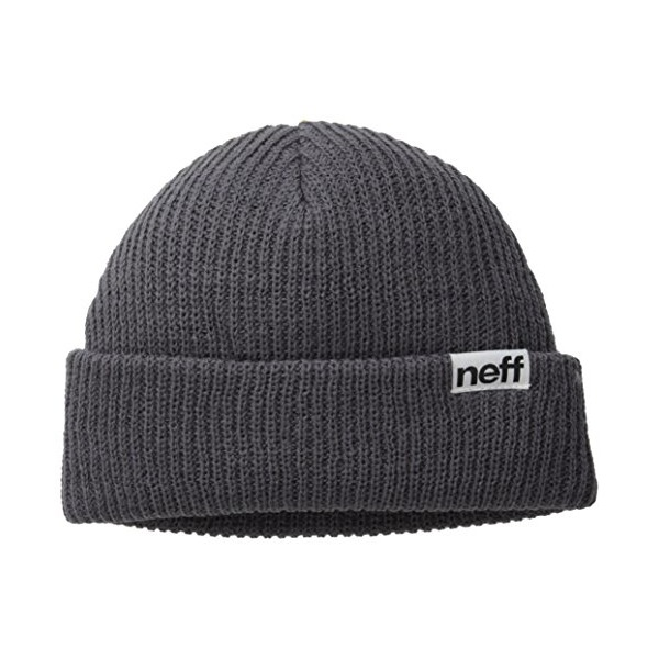 neff Men's Fold Beanie, Charcoal, One Size