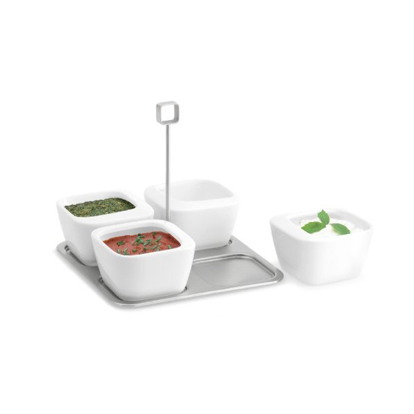 Blomus Dip Bowl Set On Tray, 5-Piece