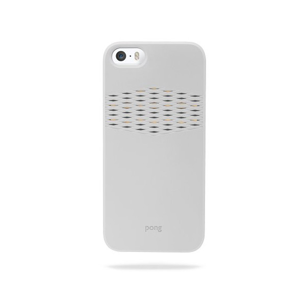 The Pong Case for iPhone 5s, Stone White with Gold Reveal