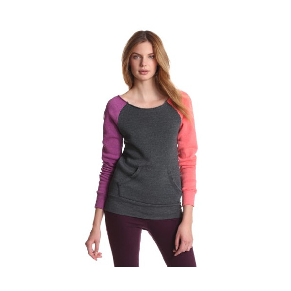 Alternative Women's Maniac Color-Blocked Sweatshirt, Eco True Purple Punch, Medium