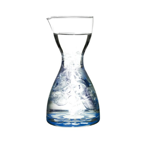 Sagaform 5015883 Hand-blown Juicy Decanter with Blue Decal