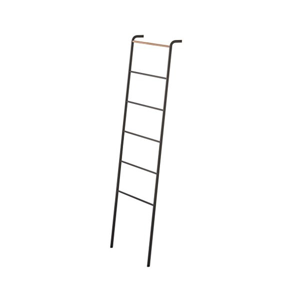 YAMAZAKI home Tower Leaning Ladder Rack Black