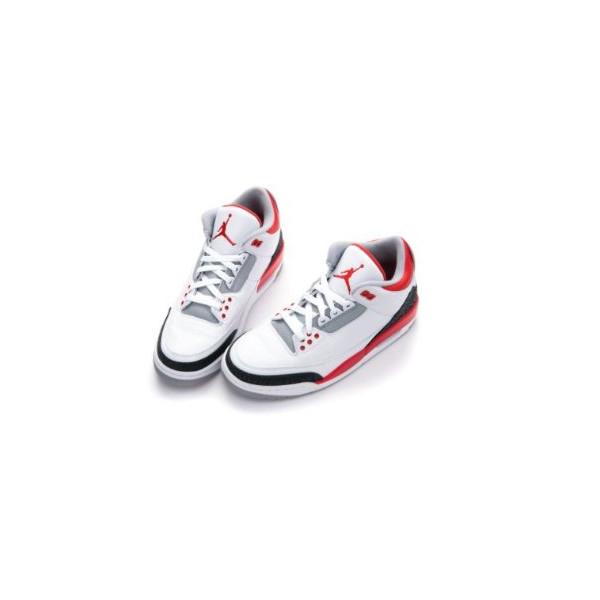 Nike Mens Air Jordan Retro 3 OG Basketball Shoes White/Black/Fire Red 136064-120 Size 10