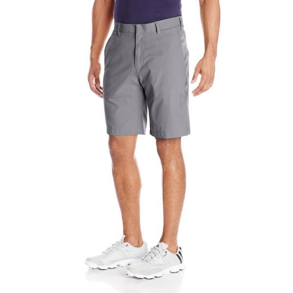 adidas Golf Men's Puremotion Stretch 3 Stripes Shorts, Vista Grey/White, 32-Inch
