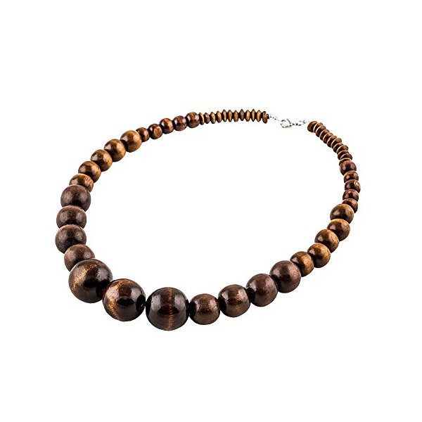 Wood Beads Prayer Choker Necklace for Men