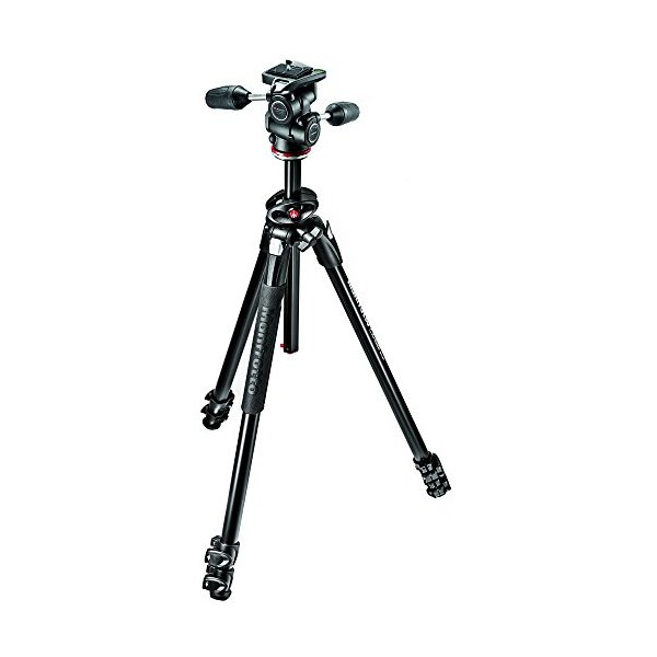 Manfrotto MK290DUA3-3WUS 290 Dual 3-Way Head Kit (Black)