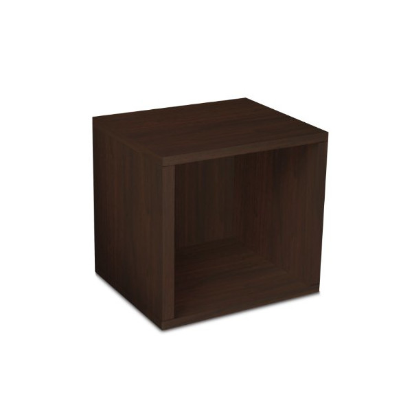 Way Basics zBoard Eco Storage Cube, Espresso Wood Grain