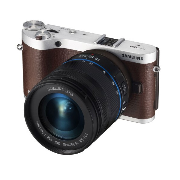 "Samsung NX300 20.3MP CMOS Smart WiFi Compact Interchangeable Lens Digital Camera with 18-55mm Lens and 3.3"" AMOLED Touch Screen (Brown)"