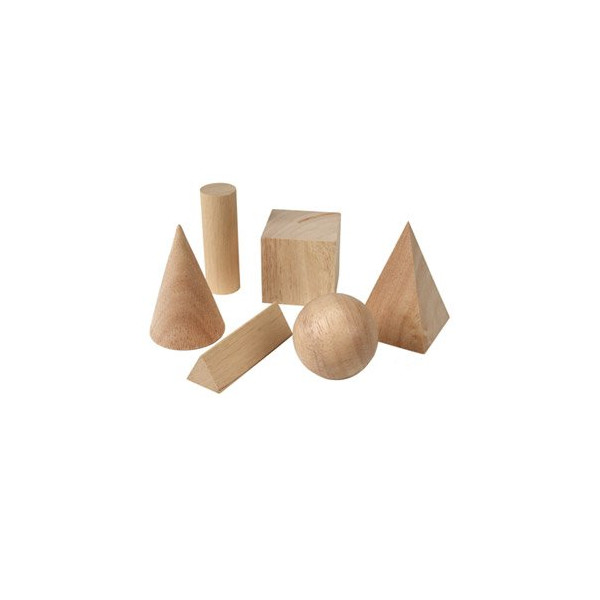 LEARNING RESOURCES LER01206 BASIC GEOMETRIC SOLIDS SET OF 6