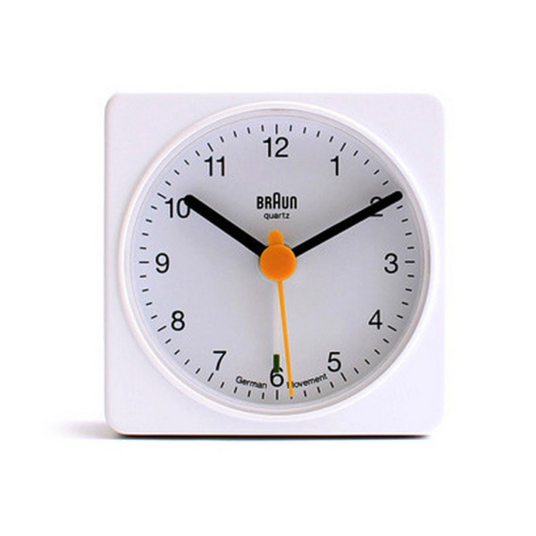 Braun Travel Alarm Clock, White