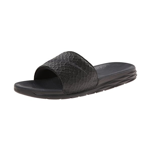 NIKE Men's Benassi Solarsoft Slide Sandal, Black/Anthracite, 10 D(M) US