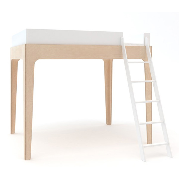 Oeuf Perch Bunk Bed, Birch/White