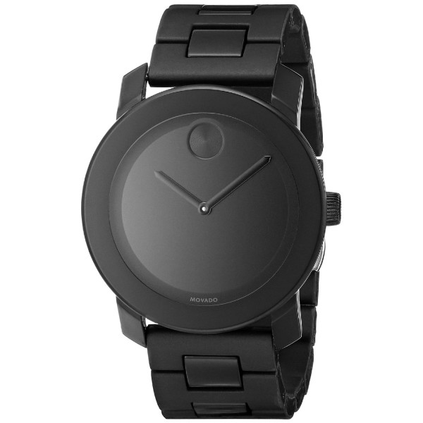 Movado Bold Analog Display Swiss Quartz Black Watch