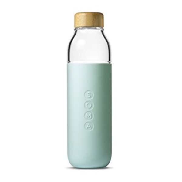 Soma Glass Water Bottle, 17oz, Mint