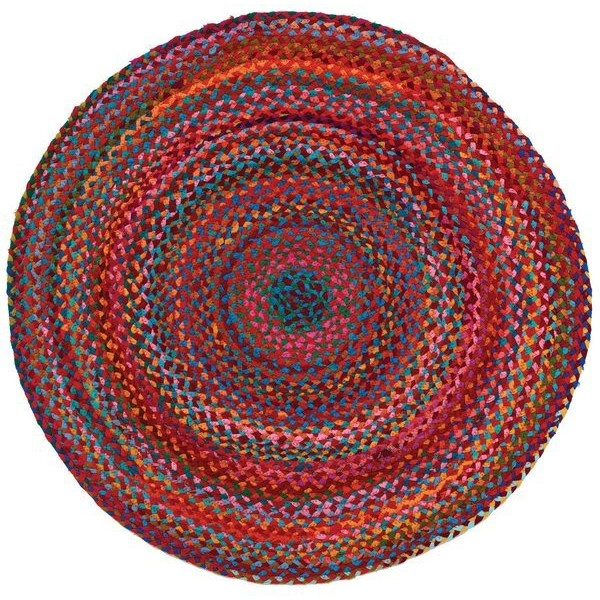 Extra Weave USA Carnivale Braided Rug, 5-Feet Round