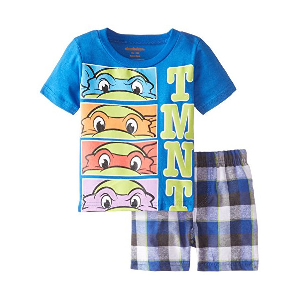 Nickelodeon Baby Boys' Ninja Turtle Short Set, Blue, 18 Months