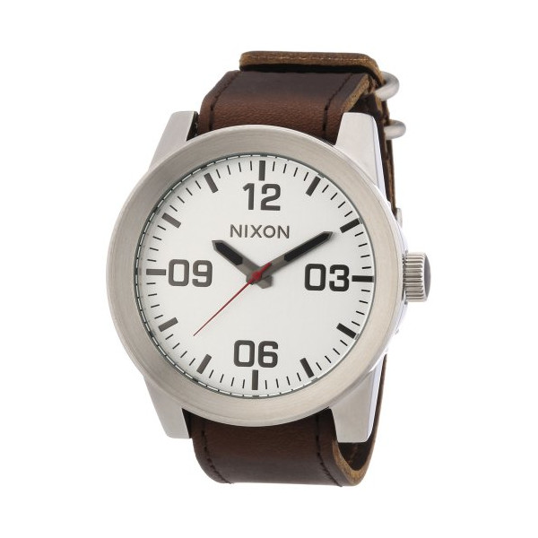 Nixon The Corporal Watch - Men's ( Silver/Brown )
