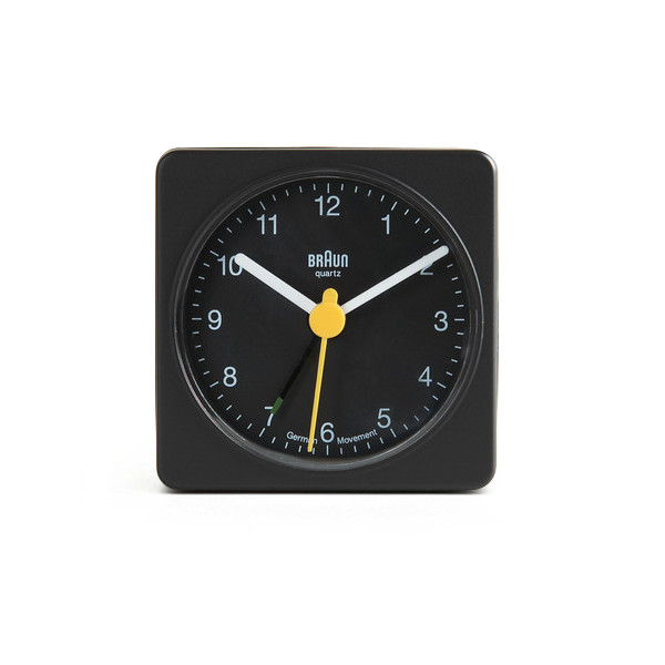 Braun Travel Alarm Clock, Black