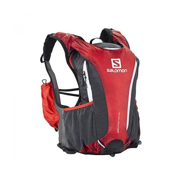Salomon Skin Pro 10+3 Set Hydration Pack, Black Red/Asphalt