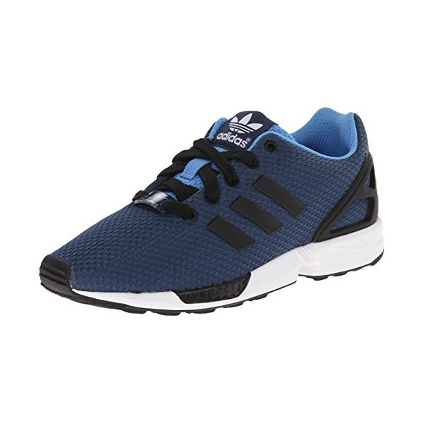 adidas Originals ZX Flux K Running Shoe (Little Kid/Big Kid), Blue/Black/White, 7 M US Big Kid
