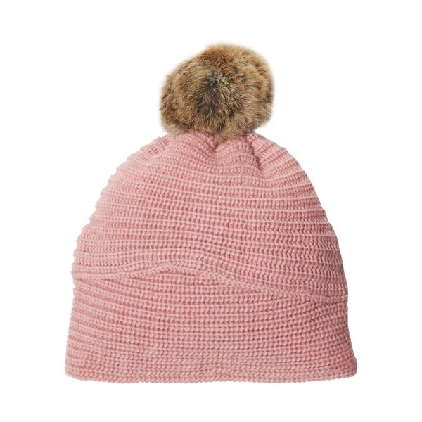 Echo Design Women's Blend Hat with Rabbit Pom, Dusty Pink, One Size