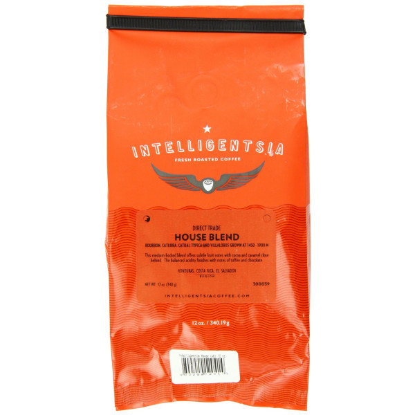 Intelligentsia House Blend, Direct Trade, Whole Bean Coffee, 12-Ounce