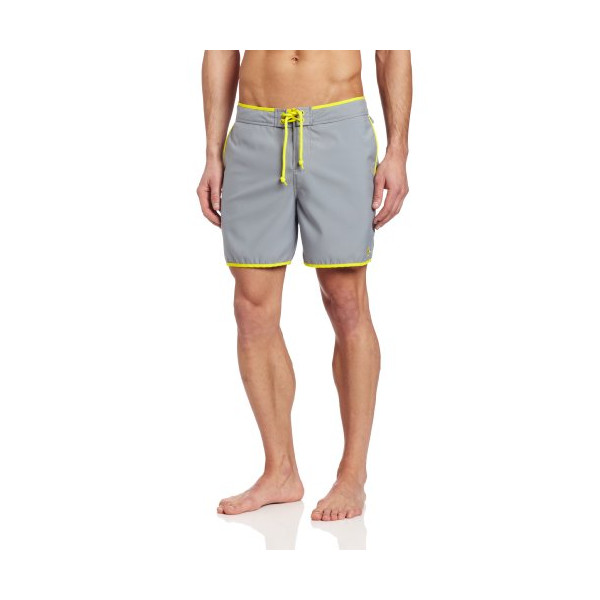 Original Penguin Men's Earl Fixed Volley Swim Trunk, Monument, 32