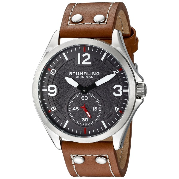 Stuhrling Original Men's 684.02 Tuskegee Analog Display Quartz Brown Watch