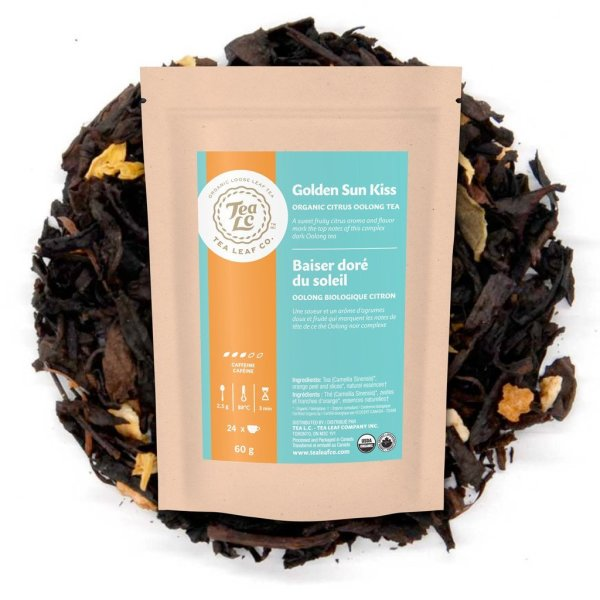 GOLDEN SUN KISS | Organic Citrus Loose Leaf Oolong Tea