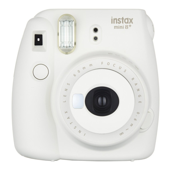 Fujifilm Instax Mini 8+ (Vanilla) Instant Film Camera + Self Shot Mirror for Selfie Use - International Version (No Warranty)
