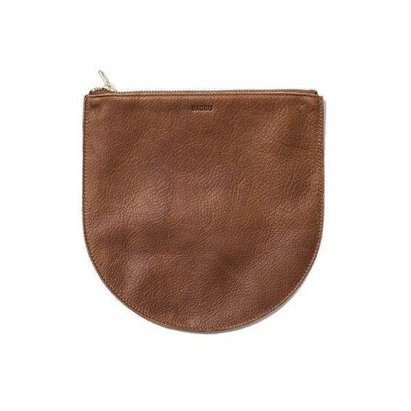 Baggu Small Brown Leather Pouch