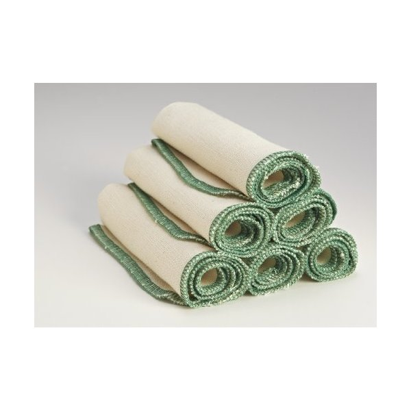 Organic Cloth Paper Towels Cleaning Cloth - Set of 6 17x17 in Green