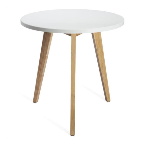 Stndrd Three Legged Bamboo End Table