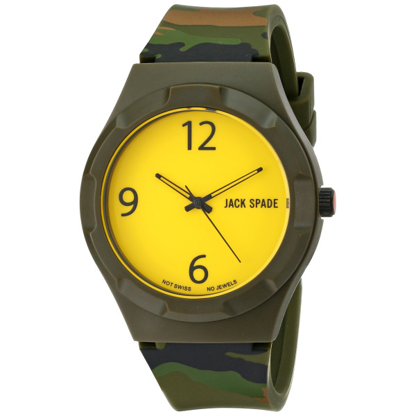 Jack Spade Graphic Analog Display Quartz Multi-Color Watch