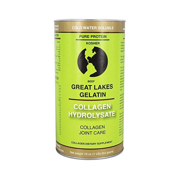 Great Lakes Gelatin, Collagen Hydrolysate, Beef, Kosher, 16 oz
